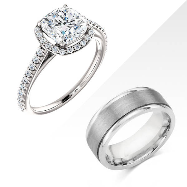 Gel1107 Diamontrigue Jewelry: EngagementWeddingRings - Diamontrigue Jewelry