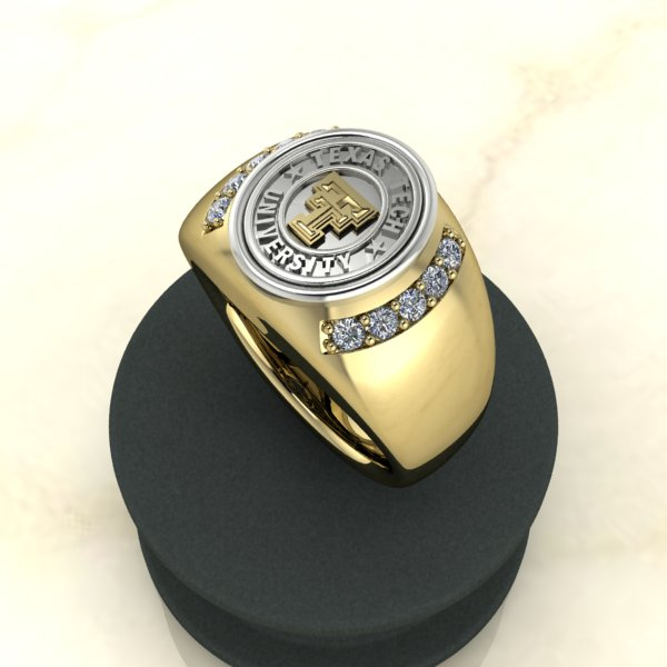 Texas Tech Jewelry Diamontrigue Jewelry: Texas Tech Fearless Mens Ring
