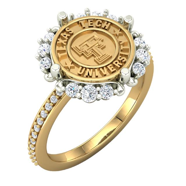 Texas Tech Jewelry Diamontrigue Jewelry: Texas Tech Vintage Inspirations Ladies Ring