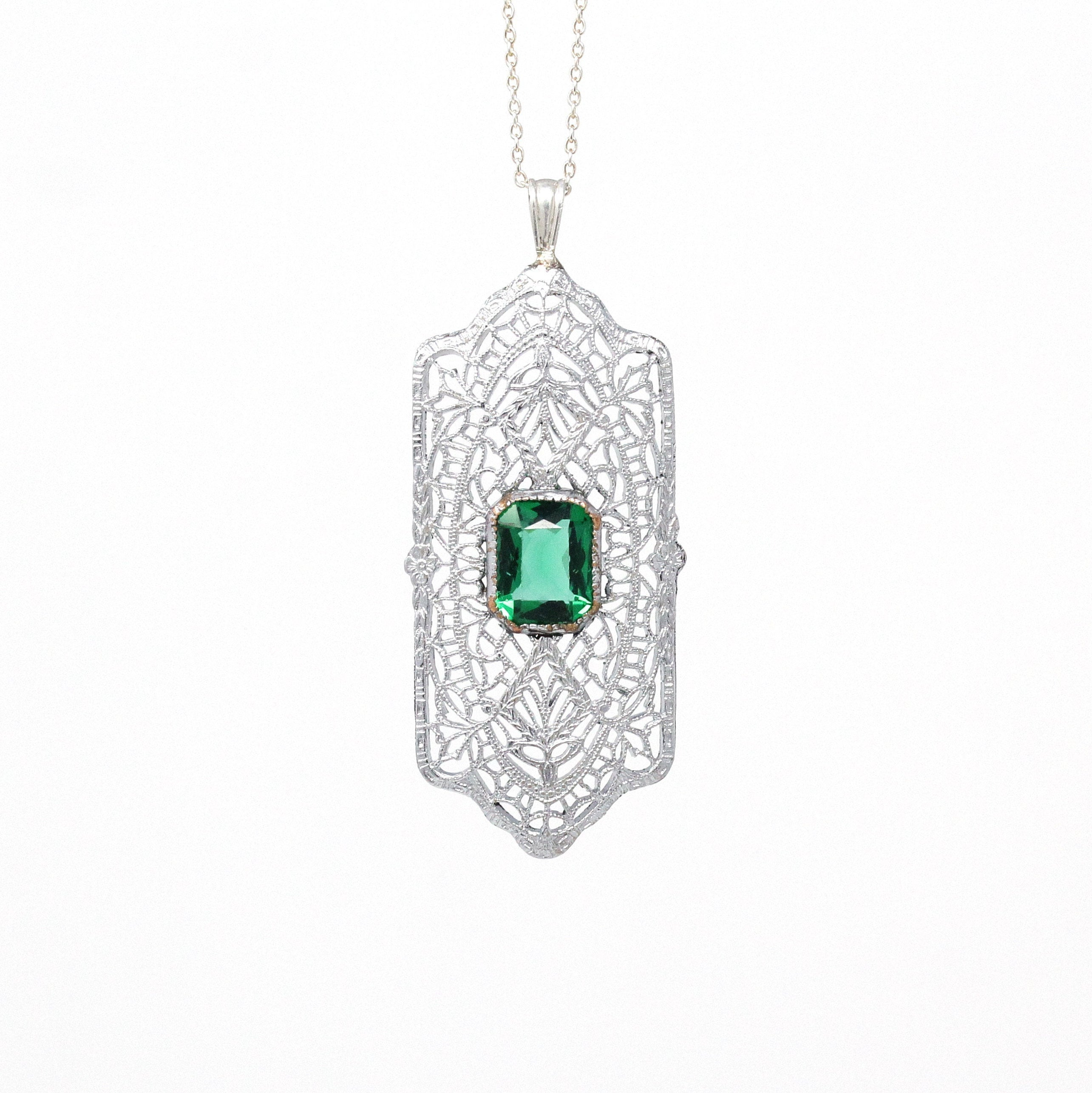122065 Diamontrigue Jewelry: Art Deco Necklace - Diamontrigue Jewelry