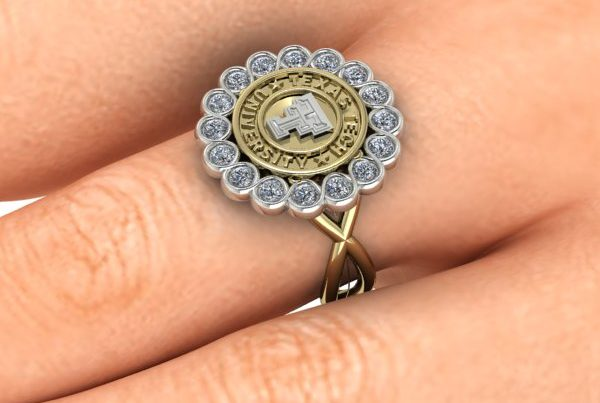 Texas Tech Bezel Beauty Ring